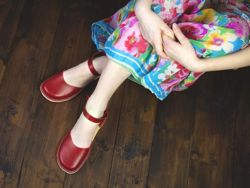 Červené sandaly