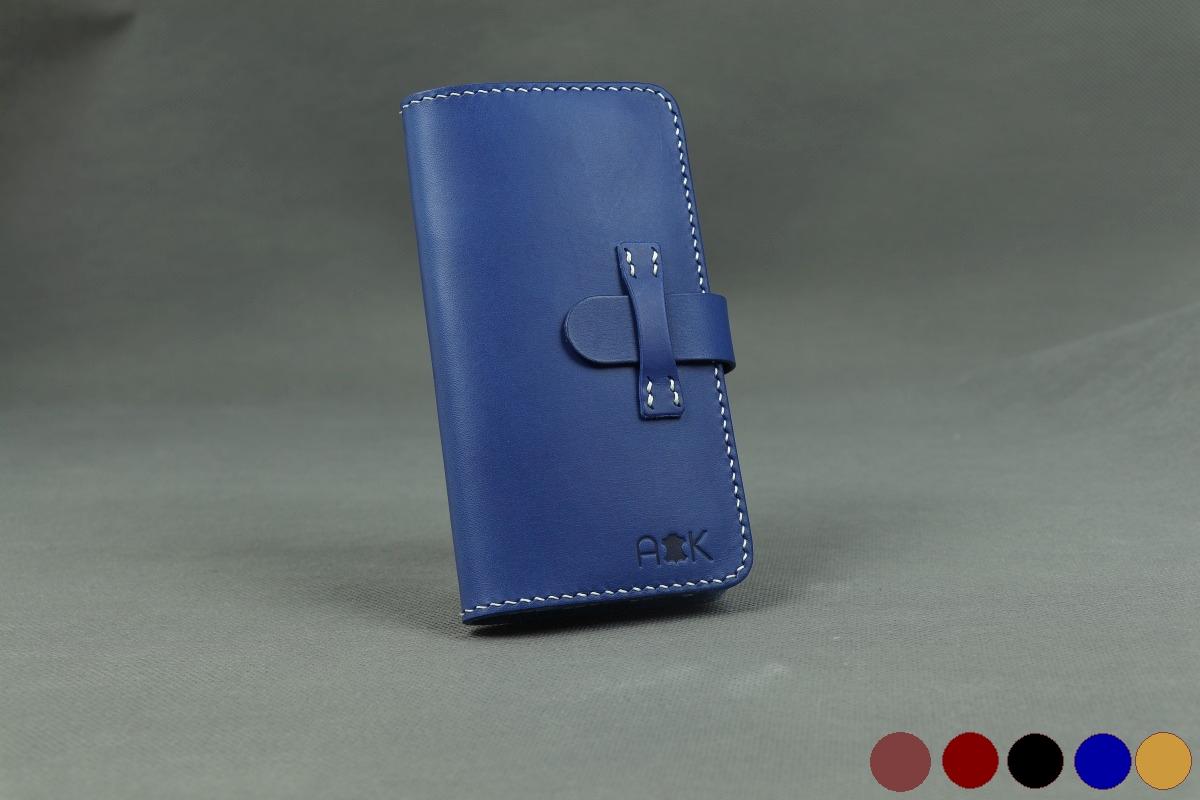 Pouzdro A-K kožené flipové pro Apple iPhone XR - modré