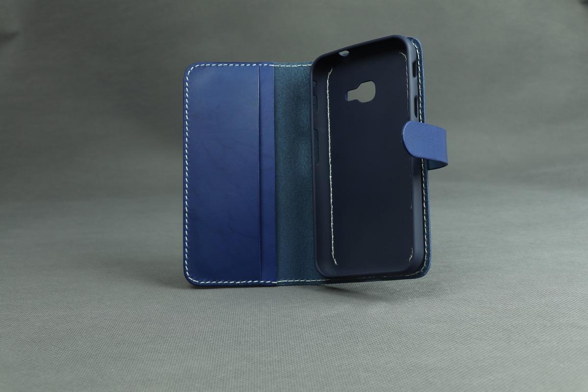 Pouzdro A-K kožené flipové pro Apple iPhone 11 - modré
