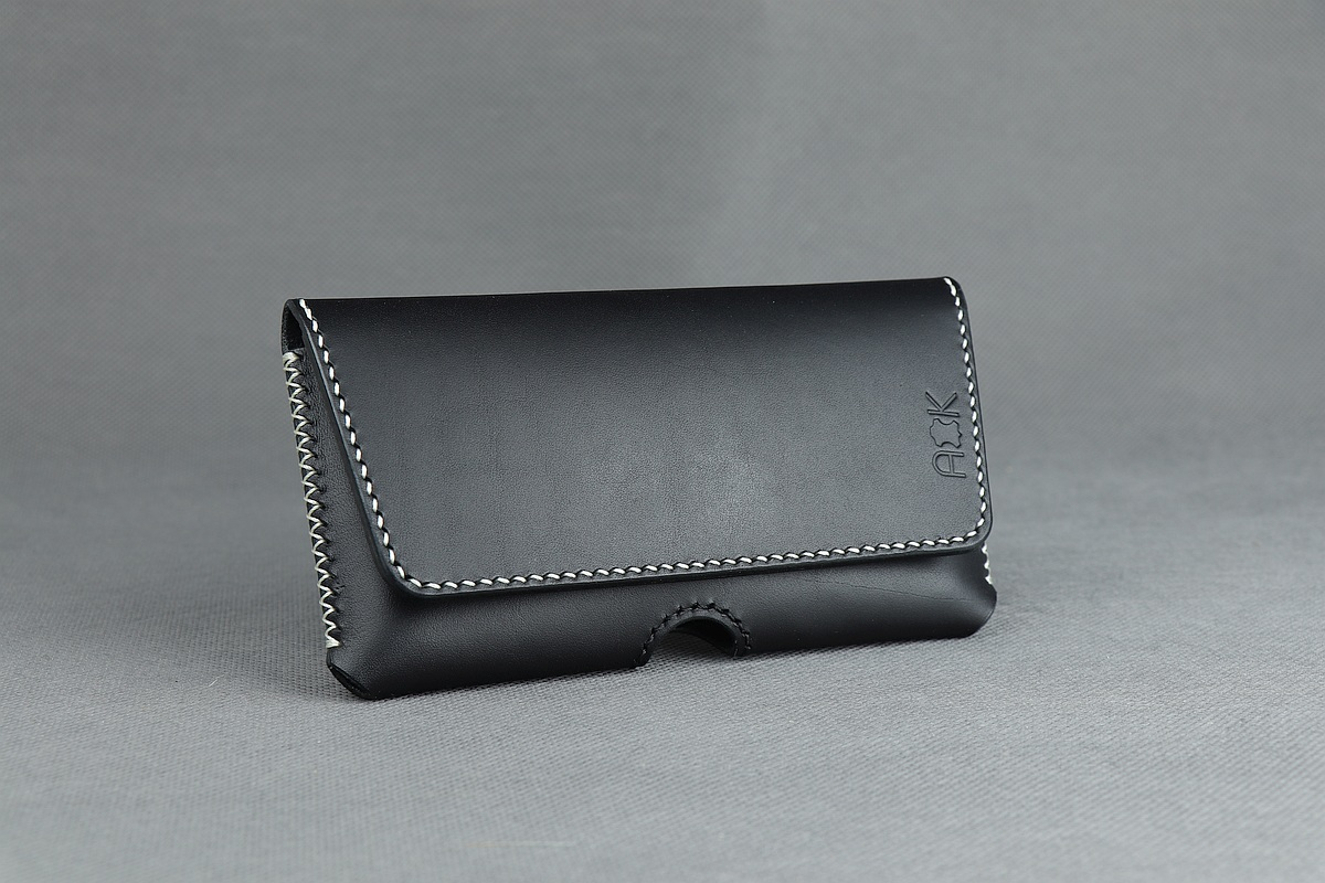 Kožené pouzdro A-K na opasek pro Sony Xperia XZ2, zavírání na magnet