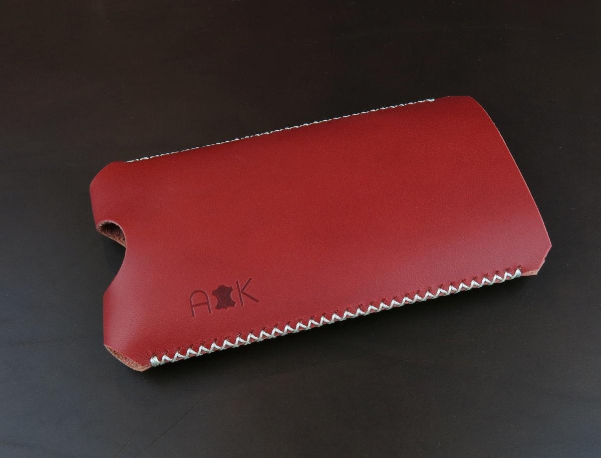 Kožené pouzdro A-K pro BlackBerry Q10, červené