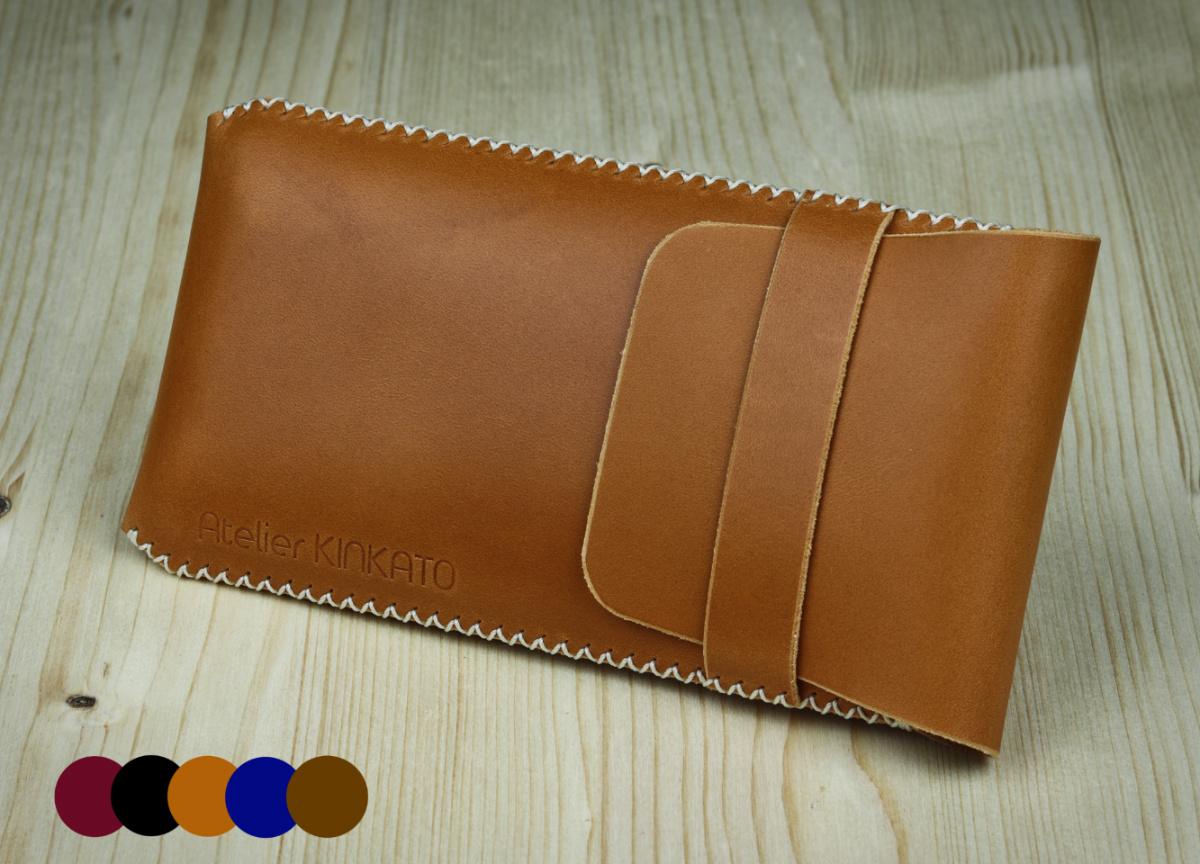 Kožené pouzdro A-K pro Xiaomi Mi 9, světle hnědá barva, celouzavřené