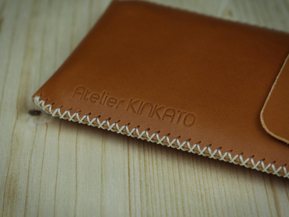 Kožené pouzdro A-K pro Nokia 6.1, světle hnědá barva, celouzavřené