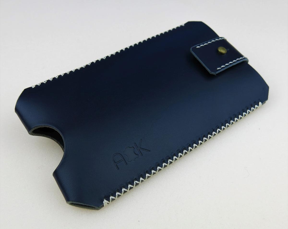Kožené pouzdro A-K pro Nokia Lumia 630 Dual Sim, modré se zavíráním