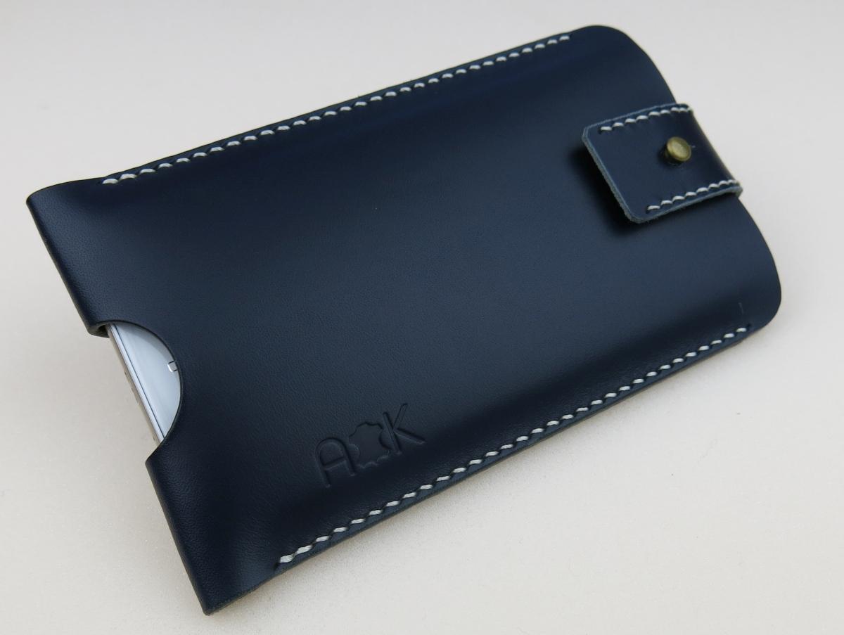 Kožené pouzdro A-K se zavíráním HTC 10, modré
