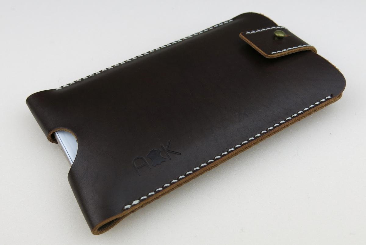 Kožené pouzdro A-K se zavíráním Sony Xperia X Compact, hnědé
