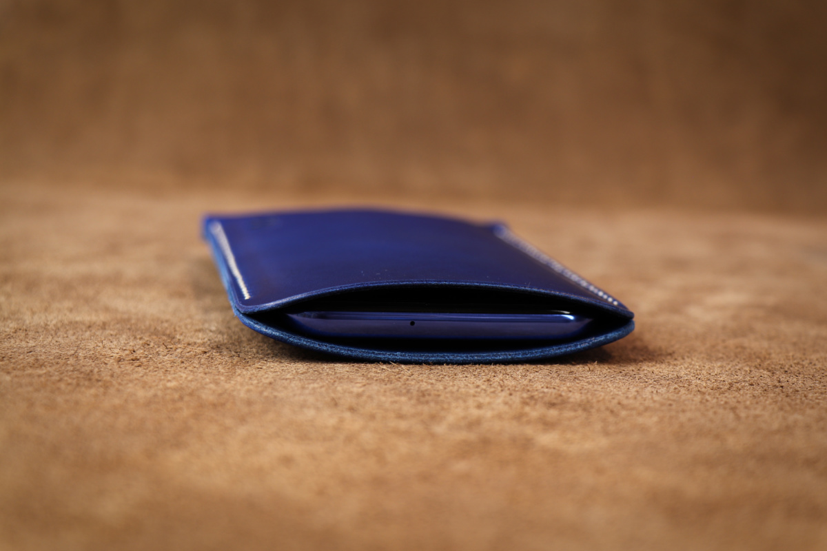 Pouzdro A-K z pravé kůže pro ZTE Blade L5 Plus, modré